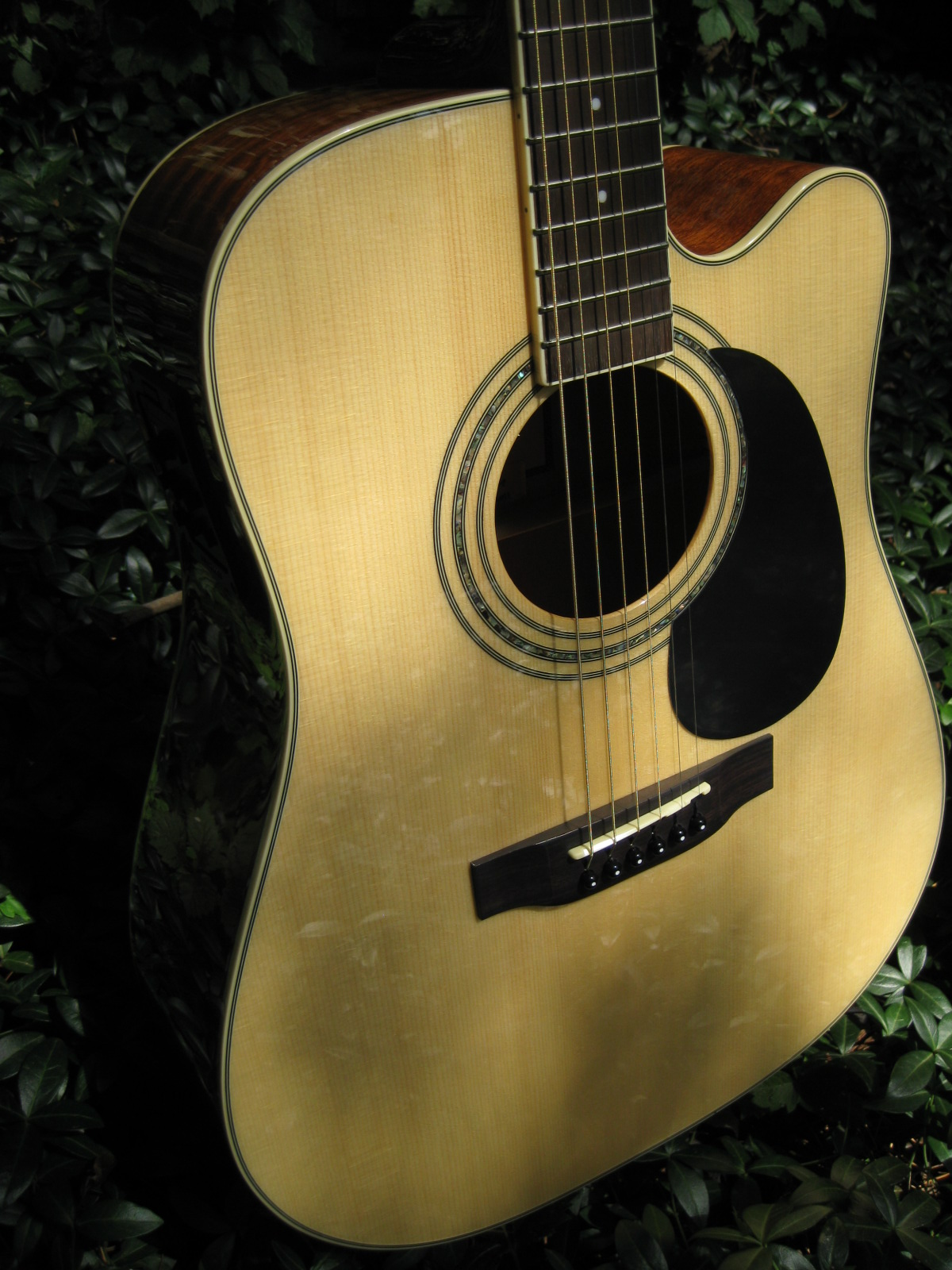 zad900ce solid spruce rosewood acoustic electric aura smaller om
